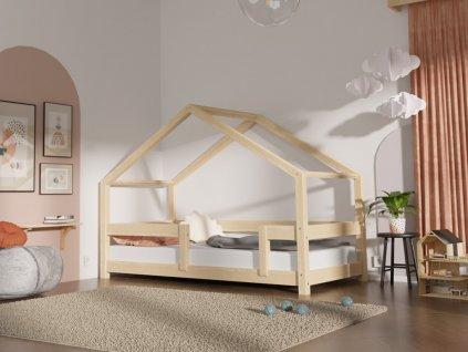 Detská posteľ domček LUCKY s bočnicou