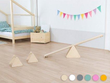Montessori balanční set pre deti TRIΔNGLES