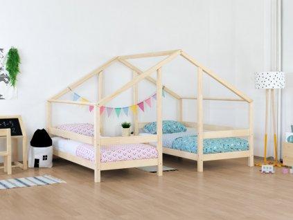 Drevená domčeková posteľ pre dve deti Villy