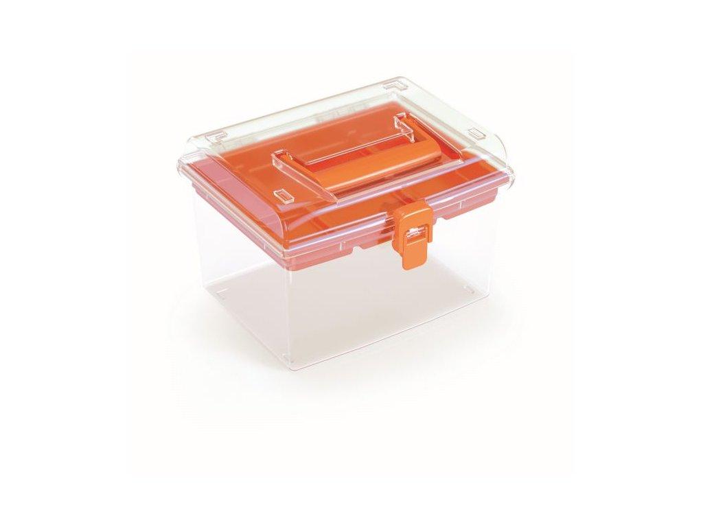 Plastový organizér NUF HIGH 195x174x135 oranžový