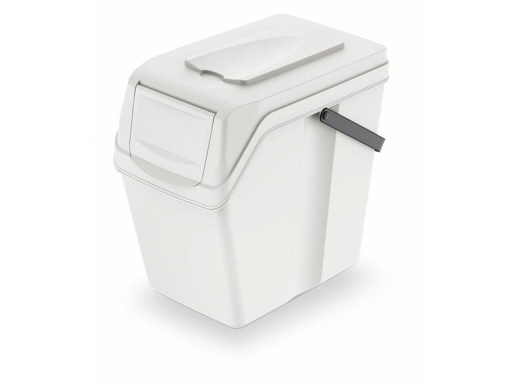 Odpadkový koš SORTIBOX II bílý, objem 25L