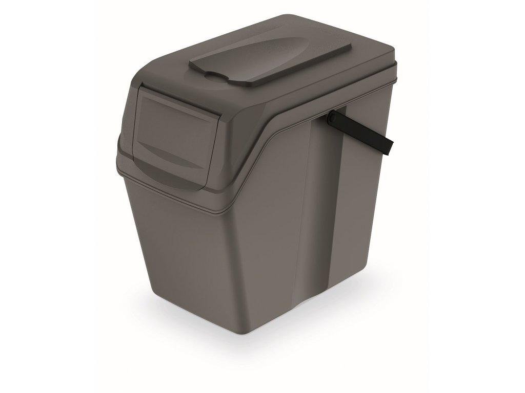 Odpadkový koš SORTIBOX II šedý kámen, objem 25L