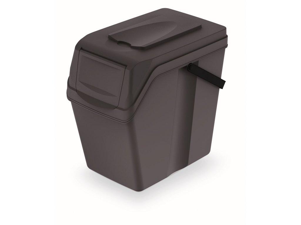 Odpadkový koš SORTIBOX II antracit, objem 25L