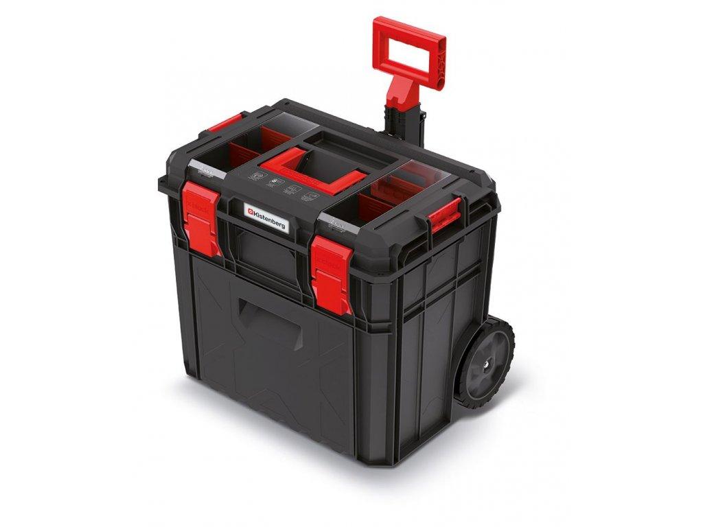 Kufr na nářadí s transp. kolečky a přihrádkou X BLOCK LOG černý 546x380x510