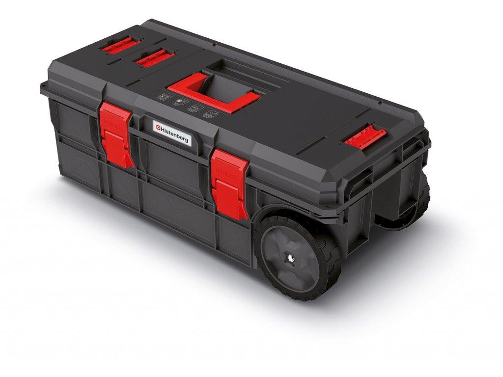Kufr na nářadí s transp. kolečky X BLOCK PRO černý 795x380x307