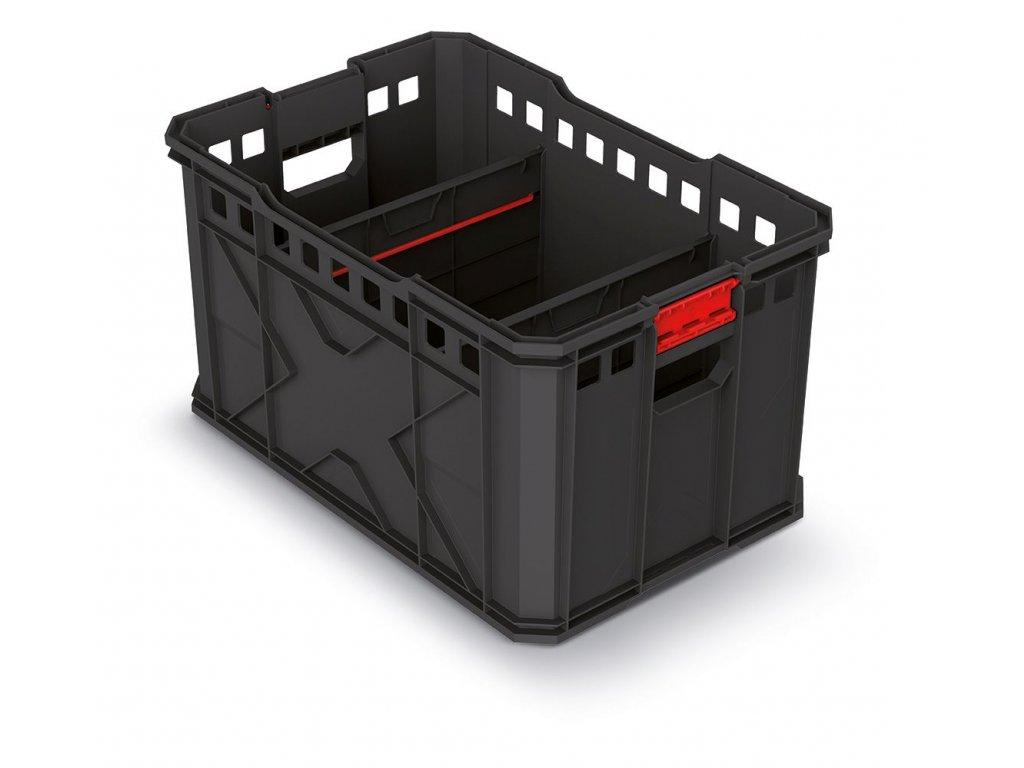 Modulární přepravní box X BLOCK PRO černý 536x354x300