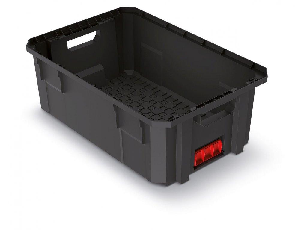 Modulární přepravní box X BLOCK PRO černý 544x362x200