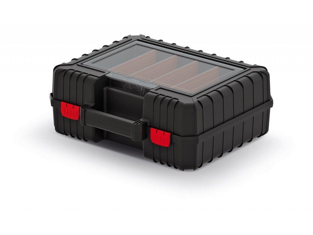 Kufr na nářadí HEAVY černý 384x335x144 (přepážky)