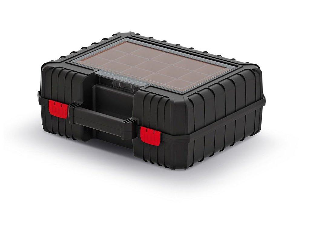Kufr na nářadí HEAVY černý 384x335x144 (krabičky)