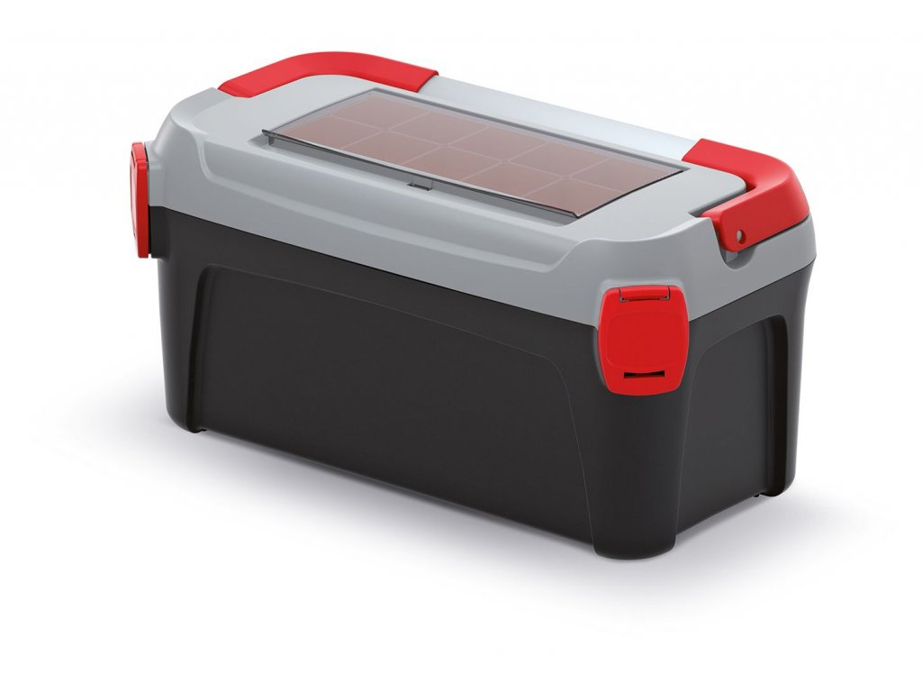 Kufr na nářadí s kov. držadlem SMART šedé víko 500x251x243