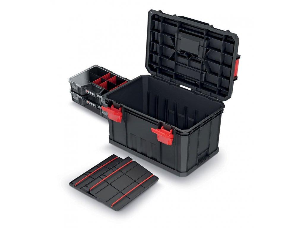 Kufr na nářadí s 2 přepážkami a organizéry MODULAR SOLUTION 530x355x310