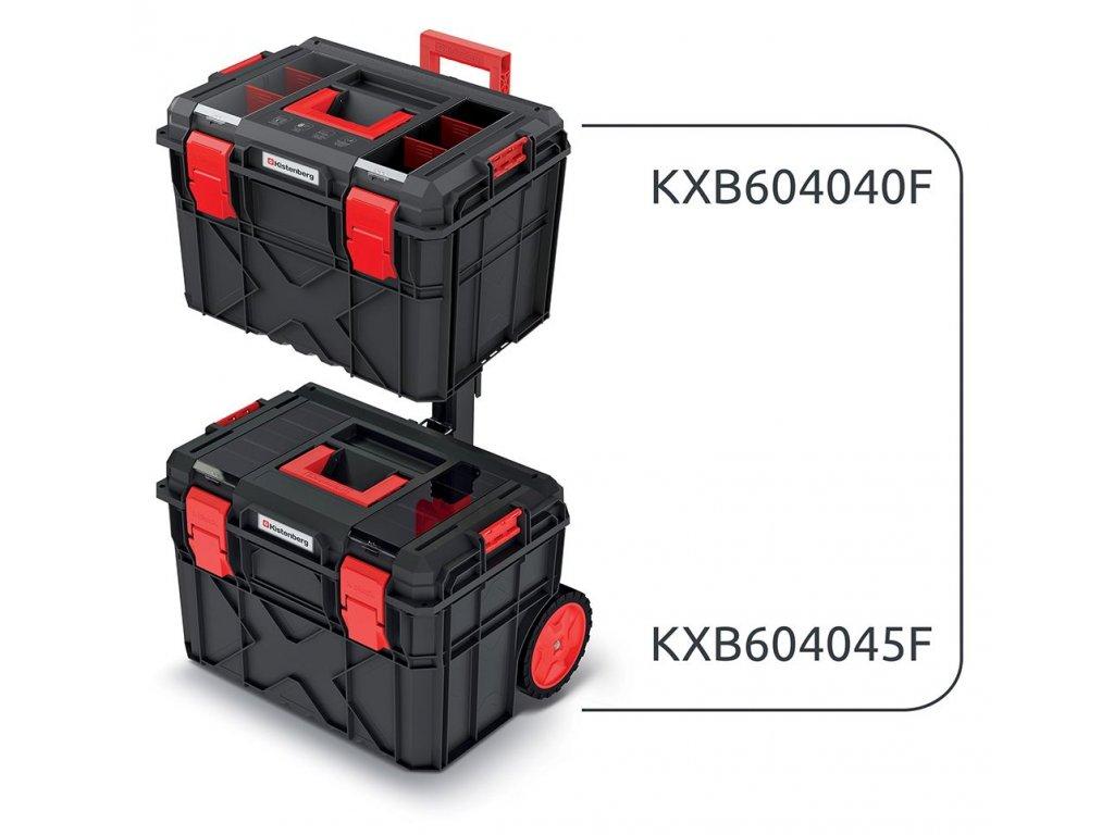 Set kufrů na nářadí a organizéru X BLOCK LOG 546x380x785