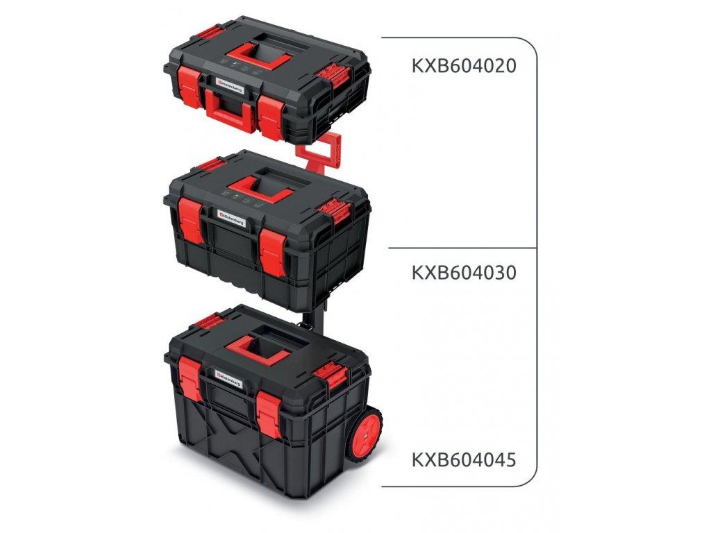 Set kufrů na nářadí a organizéru X BLOCK PRO 546x380x870