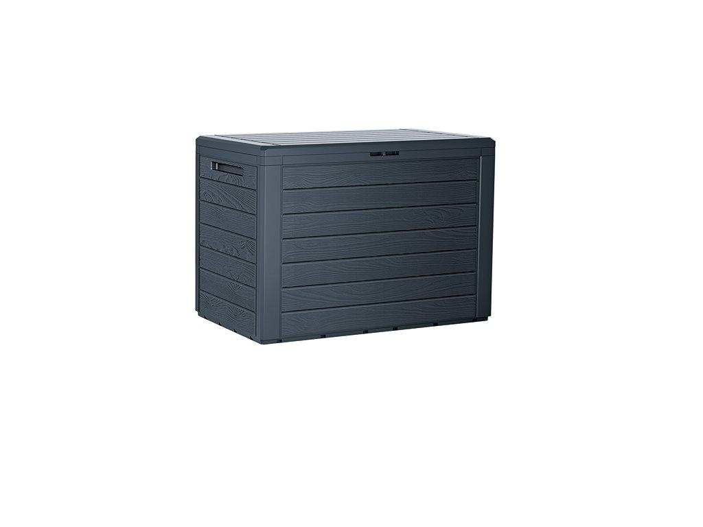 Zahradní box WOODEBOX antracit 78 cm - 190L