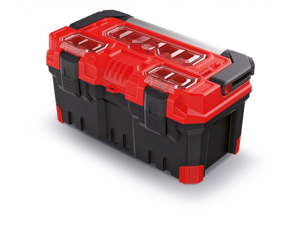 Kufr na nářadí s kov. držadlem TITAN PLUS červený 496x258x240