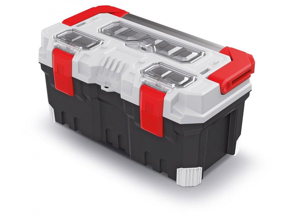 Kufr na nářadí s kov. držadlem TITAN PLUS šedý 496x258x240