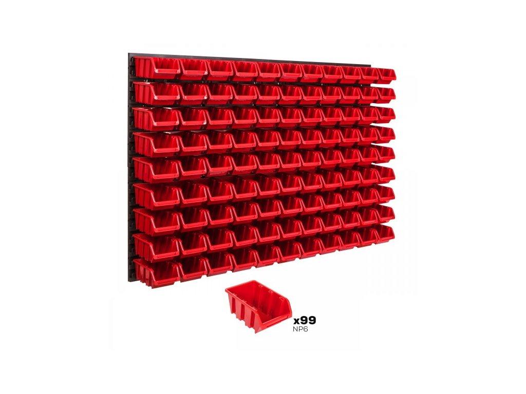 Pracovná stena 1152 x 780 mm + 99 boxov