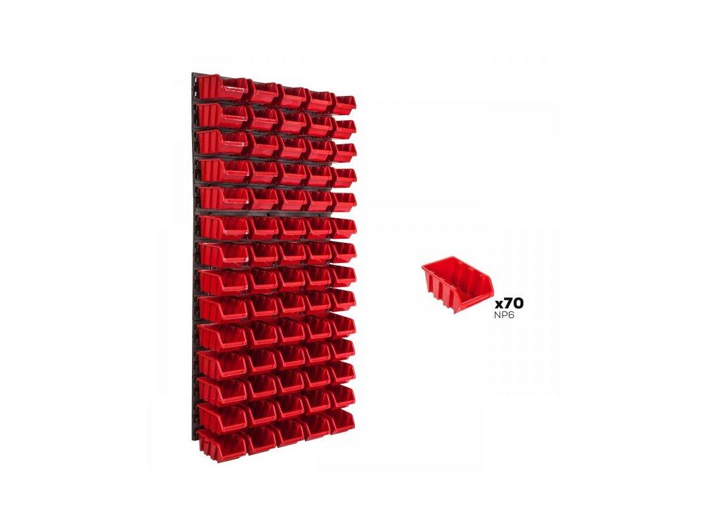 Pracovná stena 578 x 1170 mm + 70 boxov