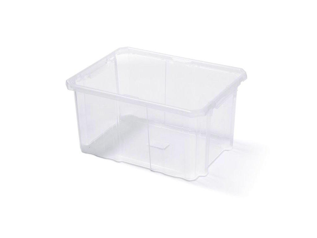 Plastový box úložný CARGOBOX transparentní 400x300x200