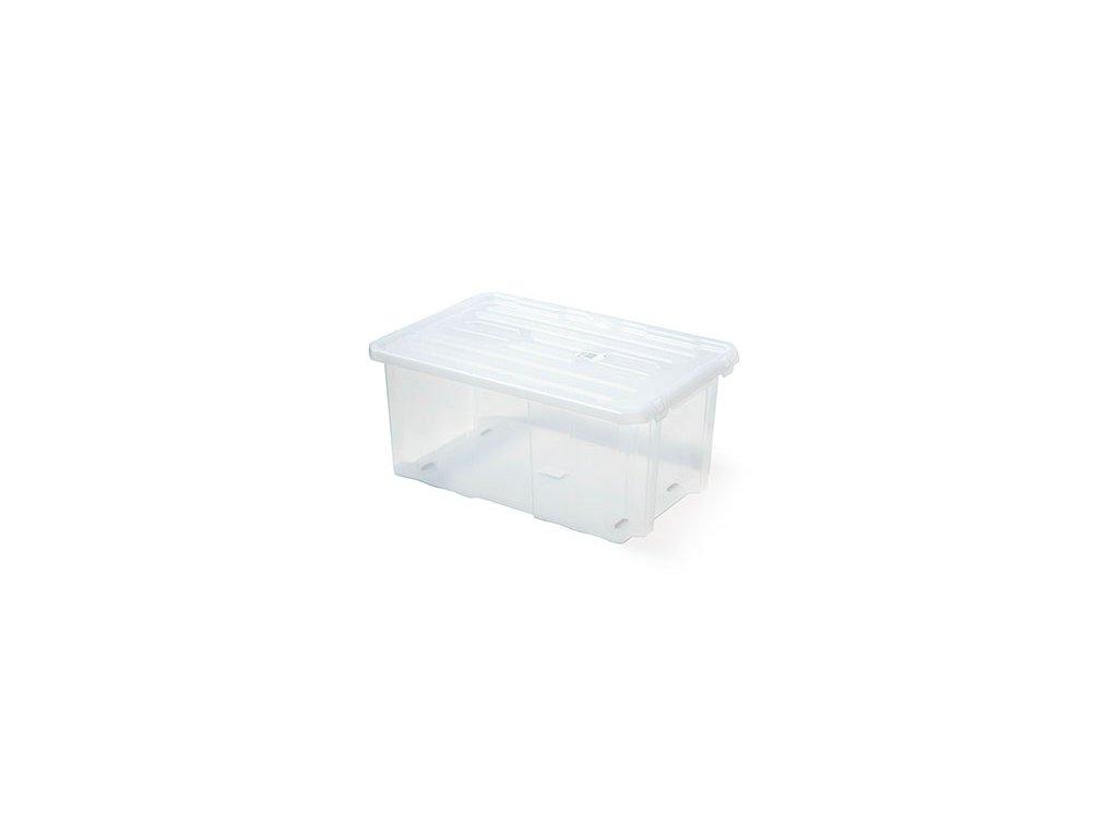 Plastový box úložný CARGOBOX transparentní 600x400x265