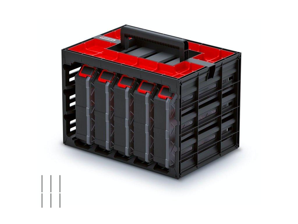Skříňka s 5 organizéry (přepážky) TAGER CASE 415x290x290