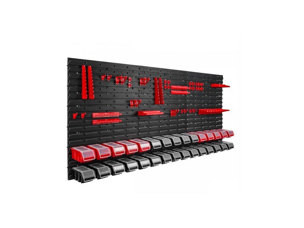 Stena na náradie 1728 x 780 + 30 uzatváratelných boxov