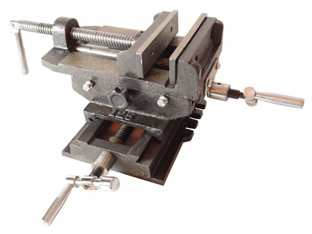 Krížový dvojosový strojný zverák 125 mm GEKO