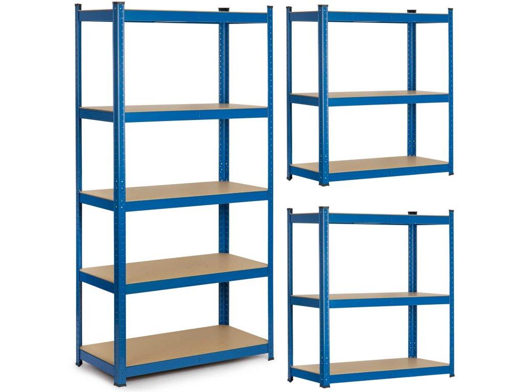 Kovový skladovací regál 180 x 90 x 30 cm Humberg 4845,1