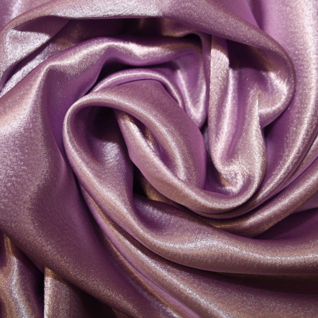 Satén krepový fialový