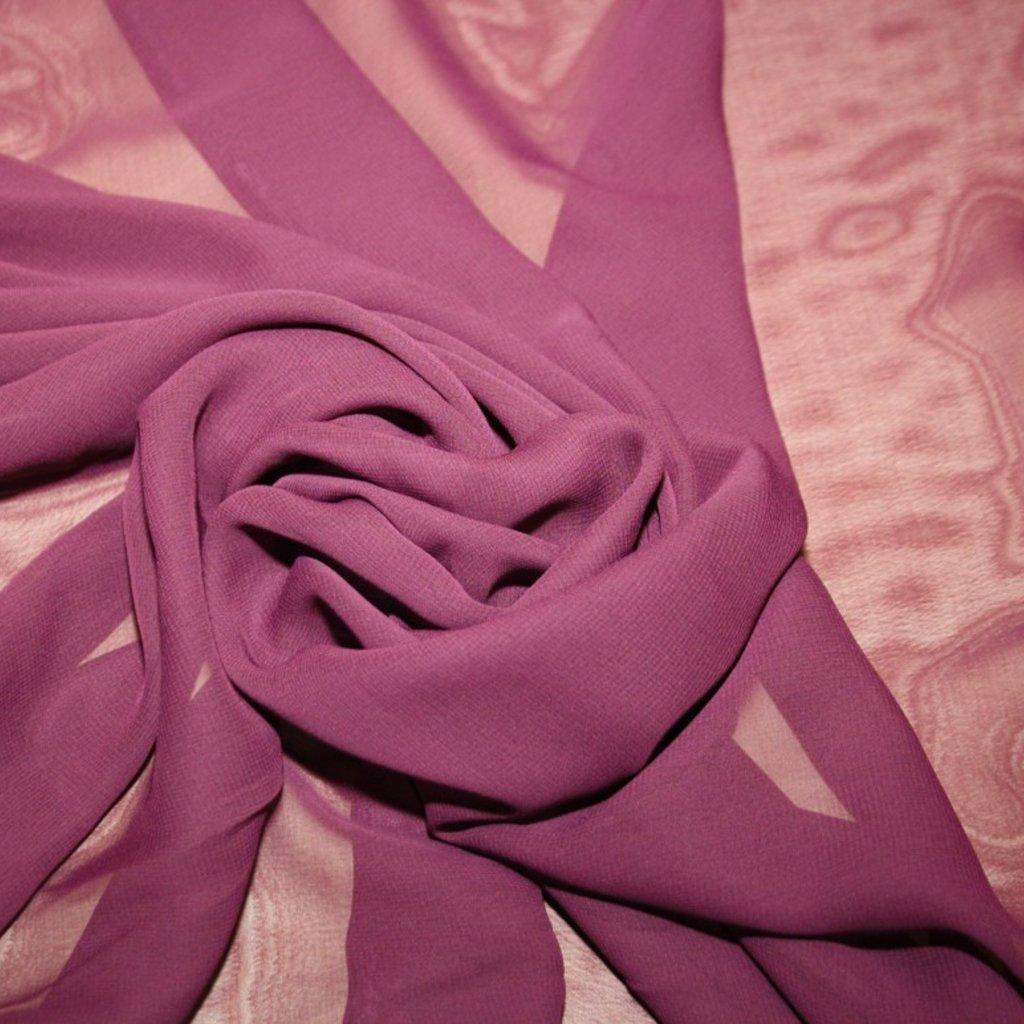 Šifon jednobarevný tmavé fialová