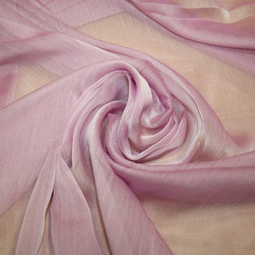 Šifon jednobarevný růžový