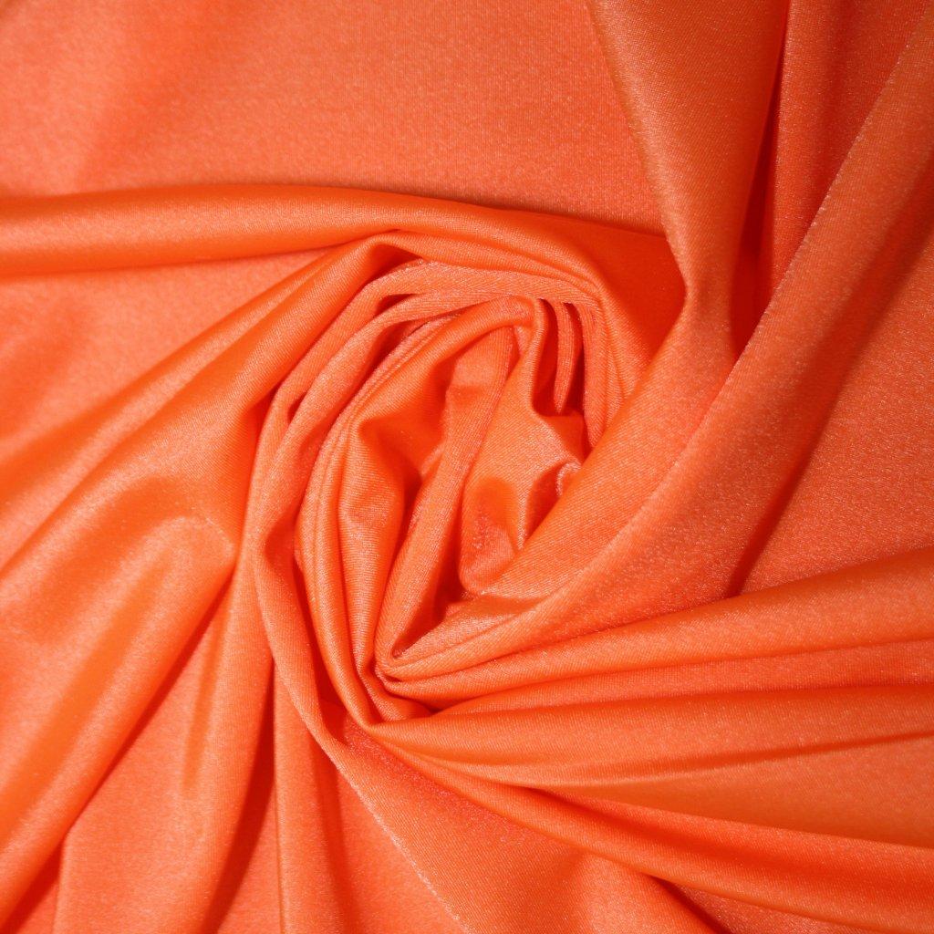 Lycra jednobarevná oranžová