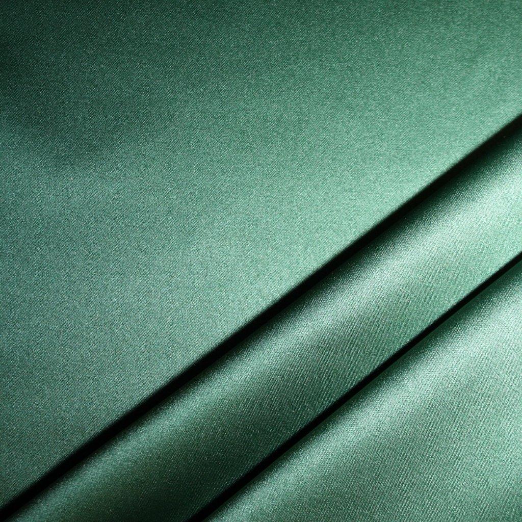 Satén krepový strečový zelený