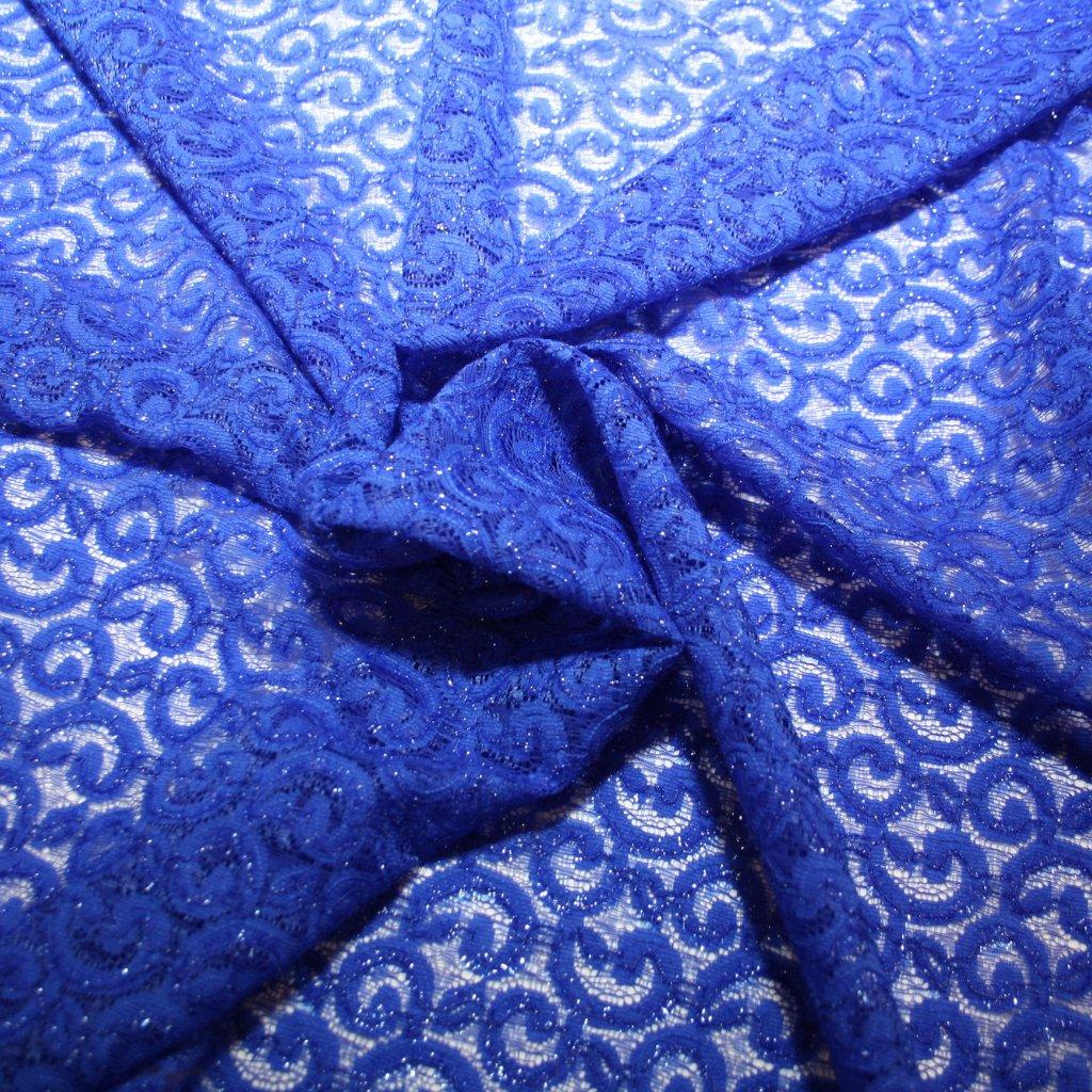 Krajka vyšívaná modrá