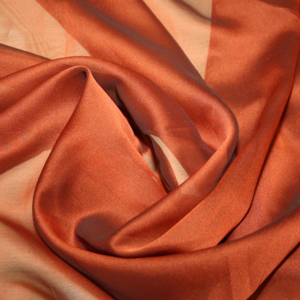 Šifon jednobarevný oranžový