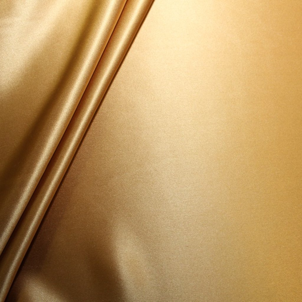Hedvábí pravé saténové jednobarevné zlaté