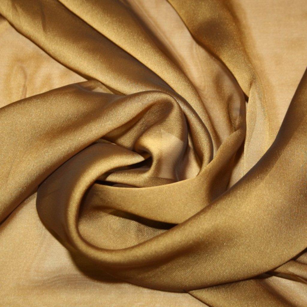 Šifon jednobarevný zlatý