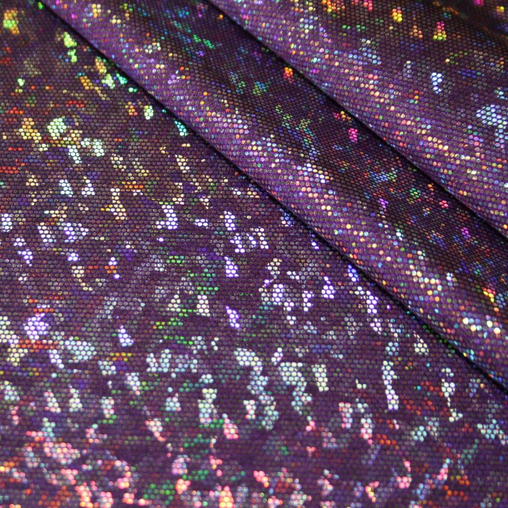 Lycra s lesklou úpravou fialová