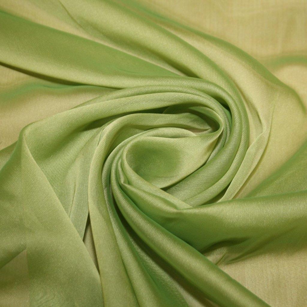 Šifon jednobarevný zelený