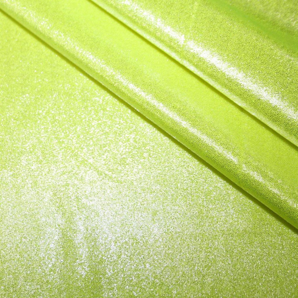 Lycra s lesklou úpravou svítivé žlutá