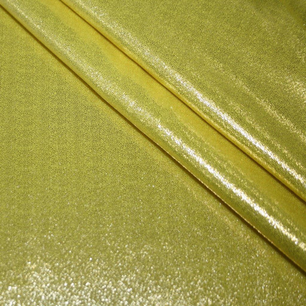 Lycra s lesklou úpravou žlutá