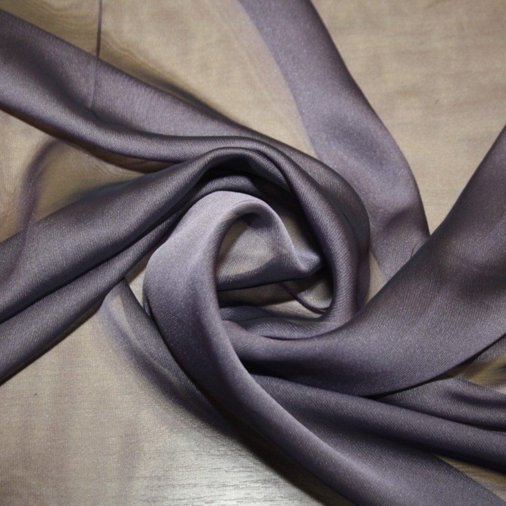 Šifon jednobarevný fialový