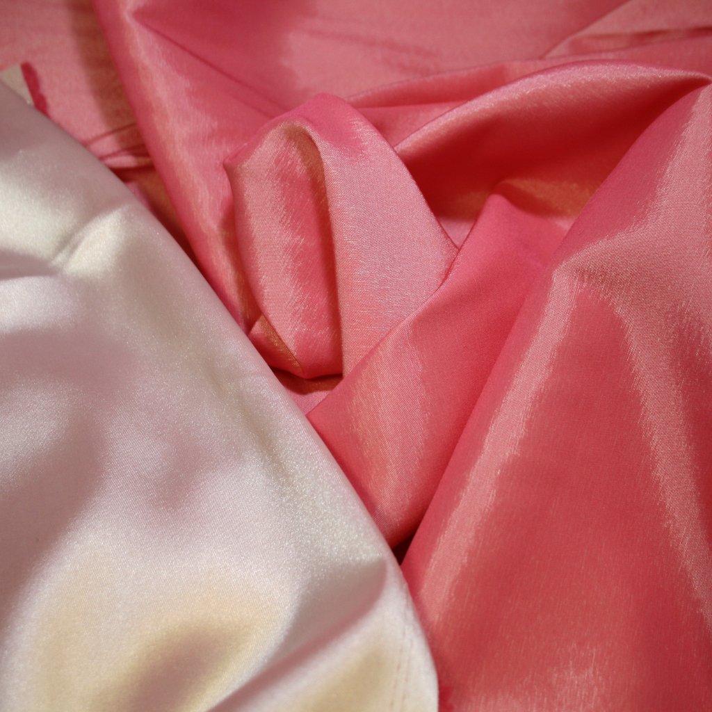 Taft oboustranný růžový