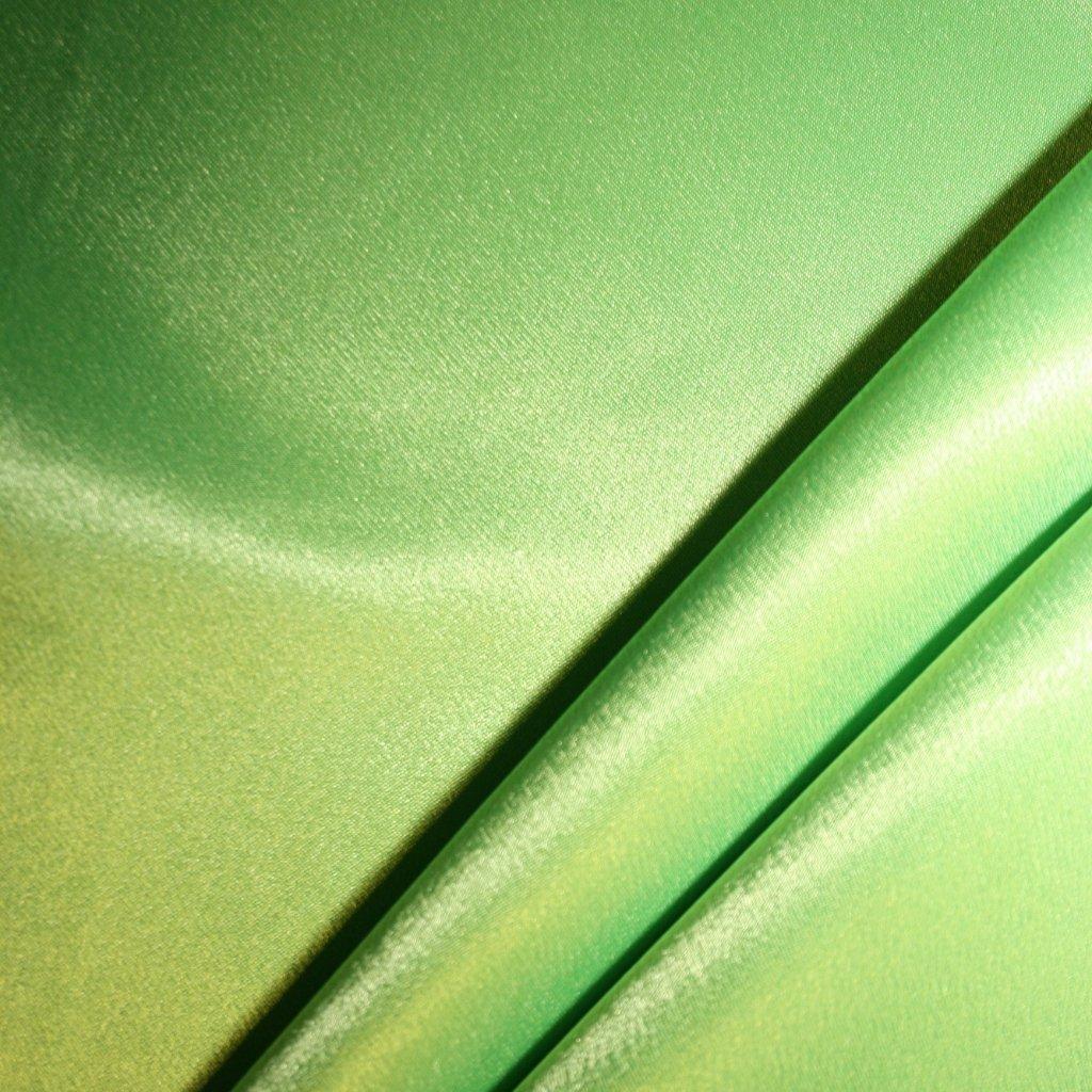 Satén krepový neonově zelený