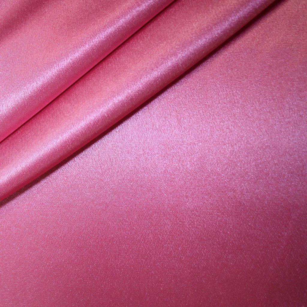 Satén krepový růžový
