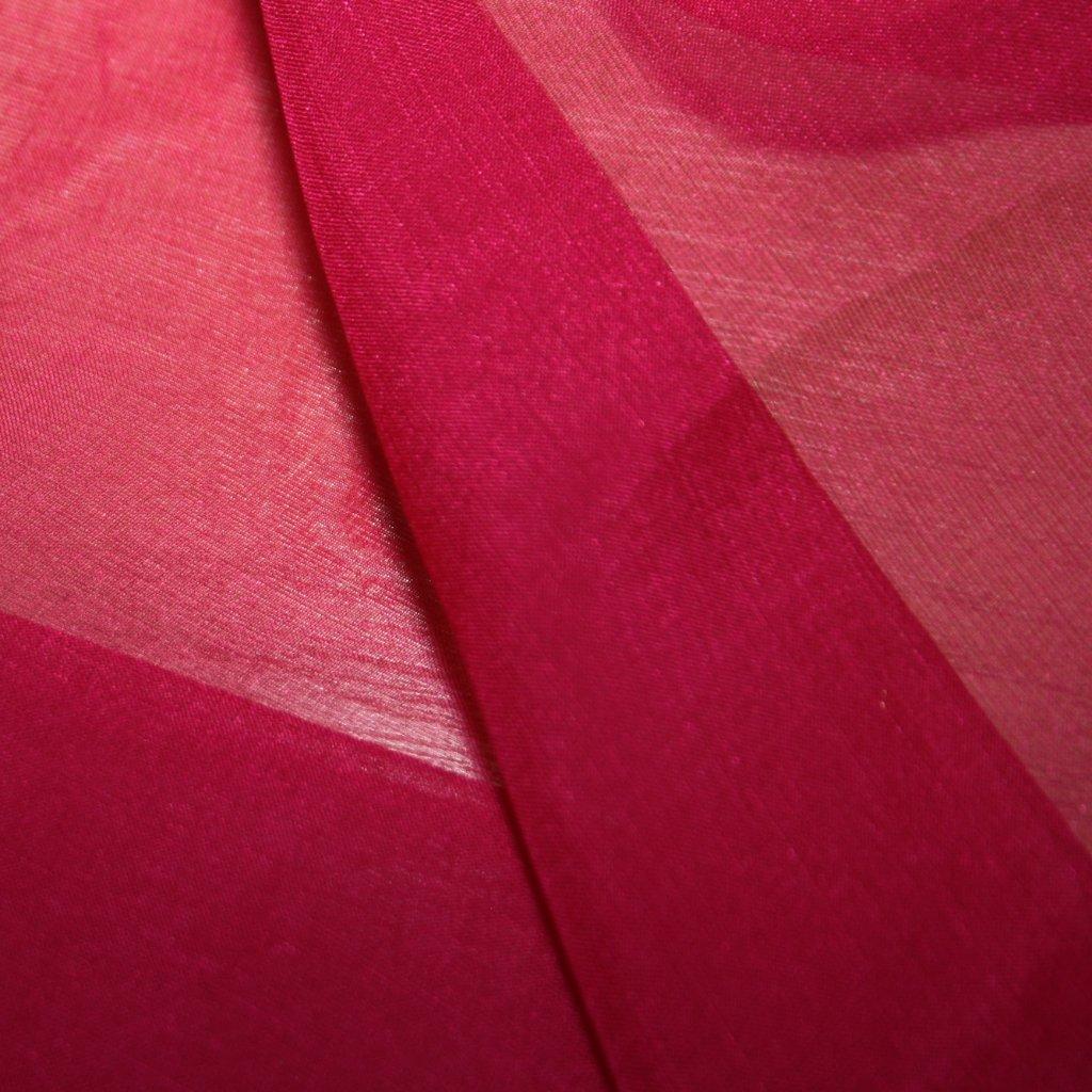 Hedvábí pravé šífónové jednobarevné růžové