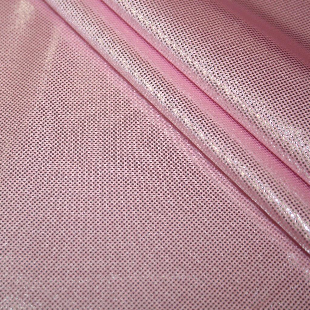Lycra s lesklou úpravou růžová