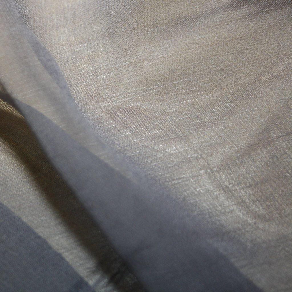 Hedvábí pravé šífónové jednobarevné šedé