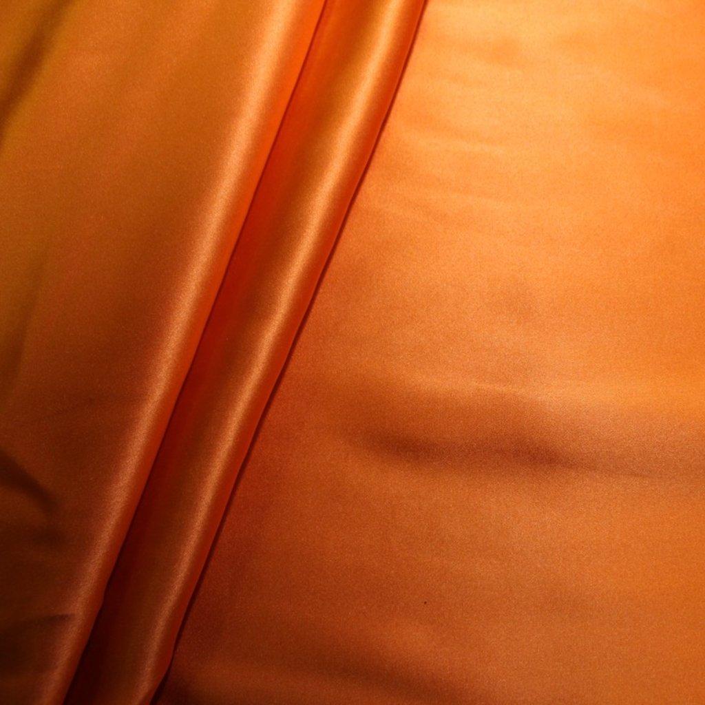 Hedvábí pravé saténové oranžové