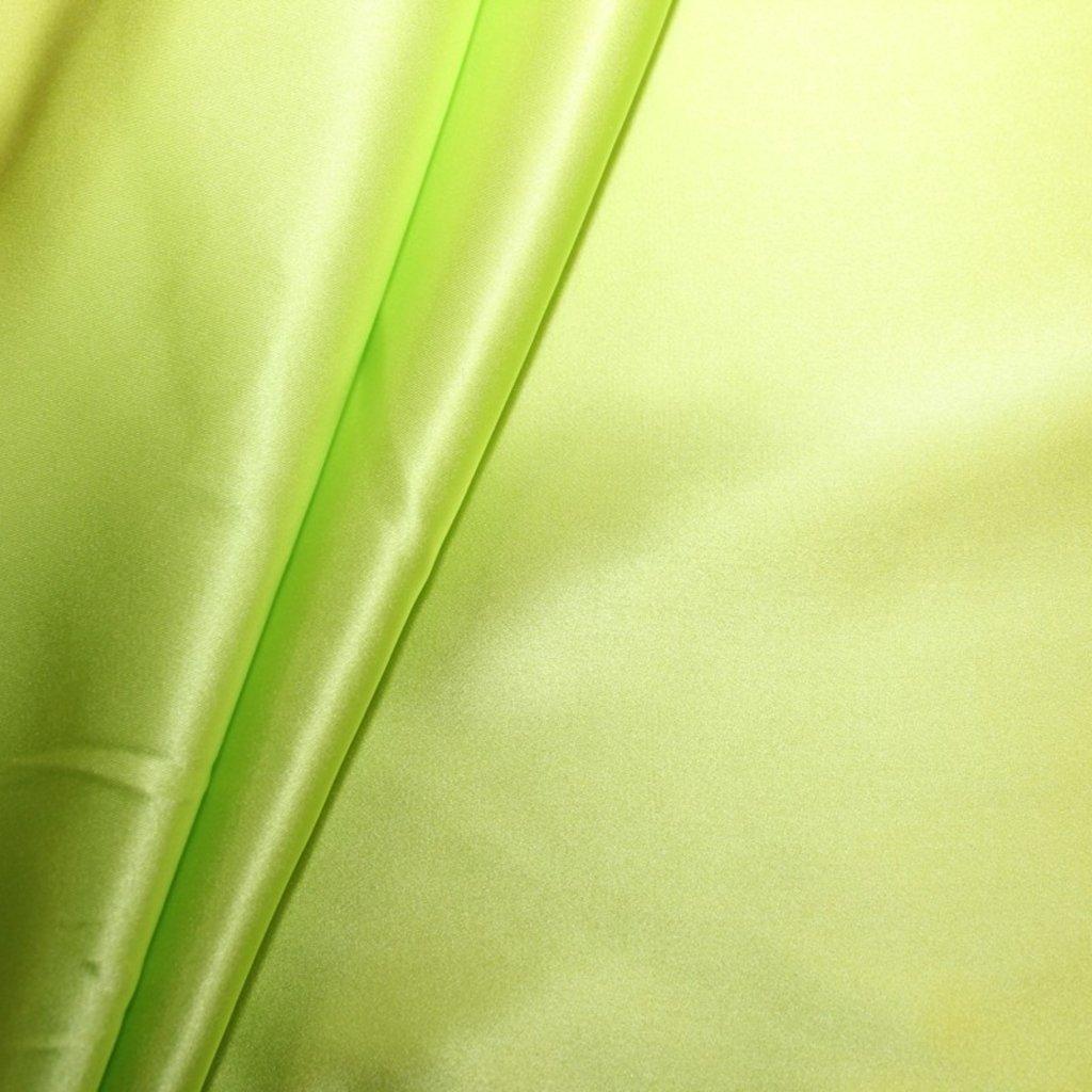 Hedvábí pravé saténové svítivé zelené